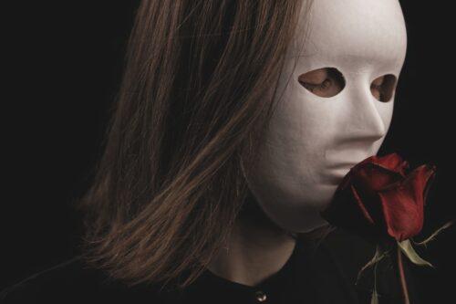 Maske ansigt rose